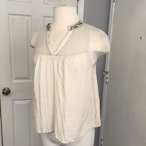 Miss me v tank ivory size small